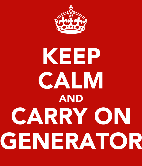 KEEP CALM AND CARRY ON GENERATOR