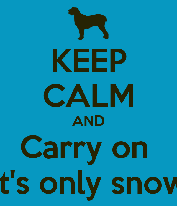KEEP CALM AND Carry on  It's only snow