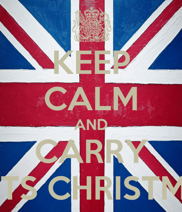 KEEP CALM AND CARRY ON ITS CHRISTMASS