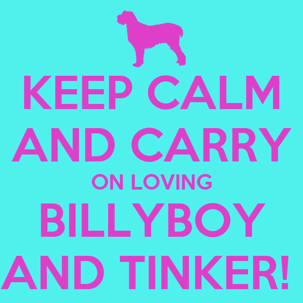 KEEP CALM AND CARRY ON LOVING BILLYBOY AND TINKER!