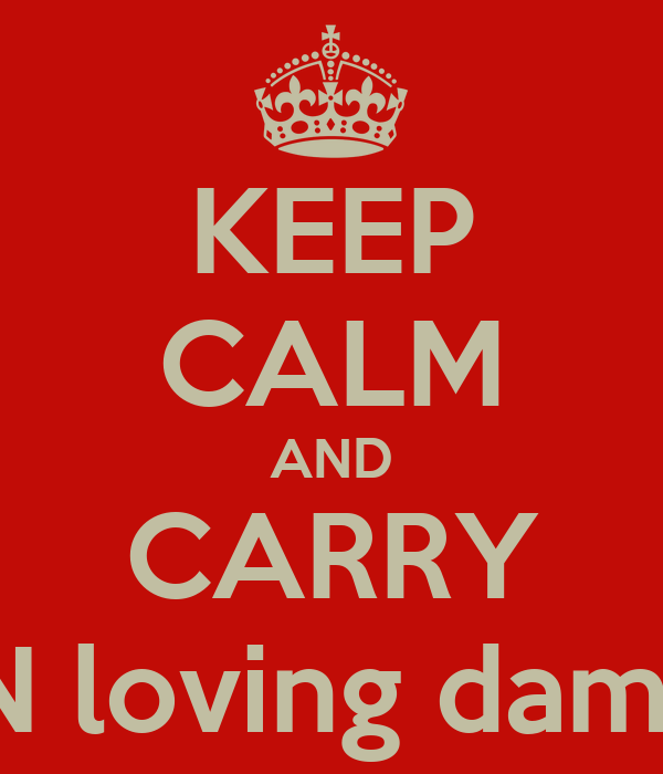 KEEP CALM AND CARRY ON loving damon