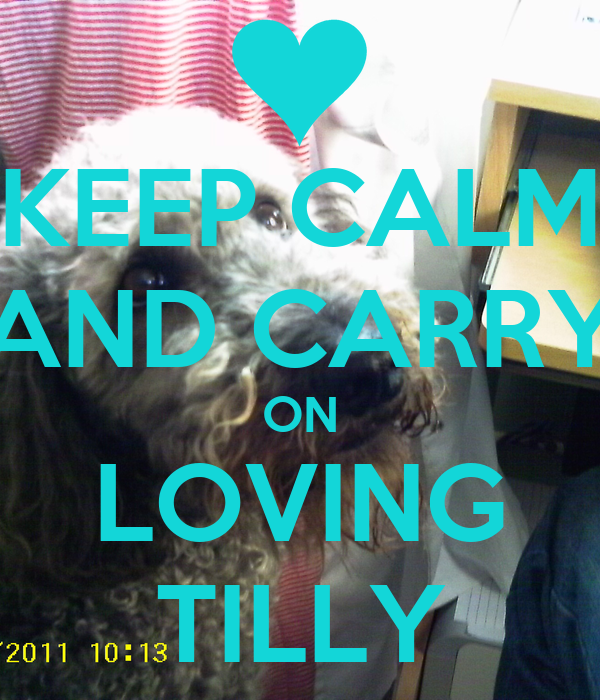 KEEP CALM AND CARRY ON LOVING TILLY