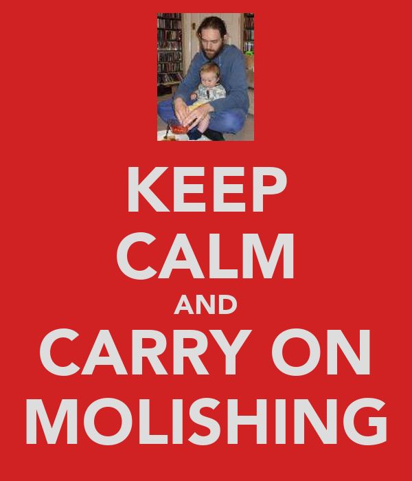 KEEP CALM AND CARRY ON MOLISHING