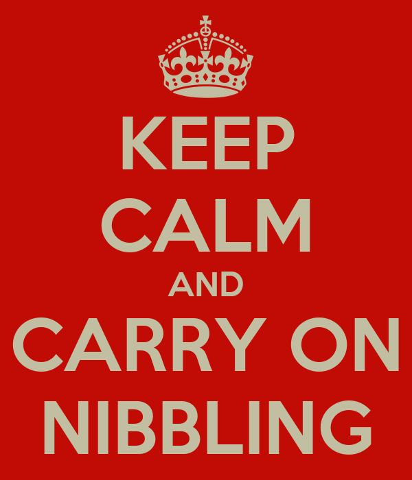 KEEP CALM AND CARRY ON NIBBLING