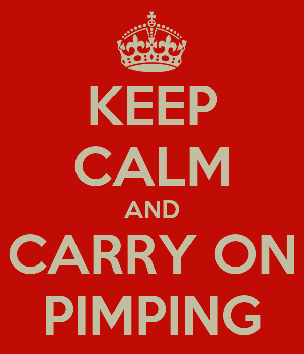 KEEP CALM AND CARRY ON PIMPING