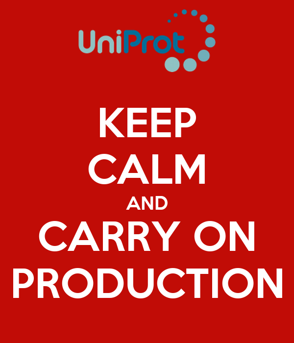 KEEP CALM AND CARRY ON PRODUCTION