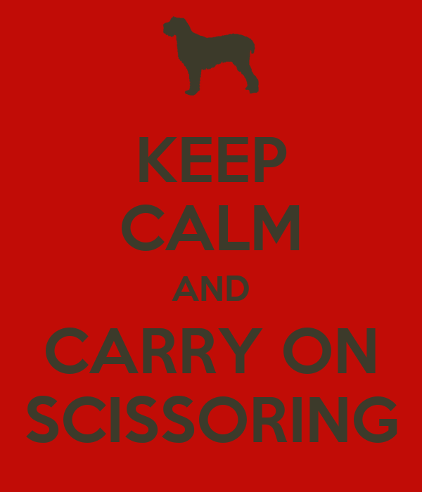 KEEP CALM AND CARRY ON SCISSORING
