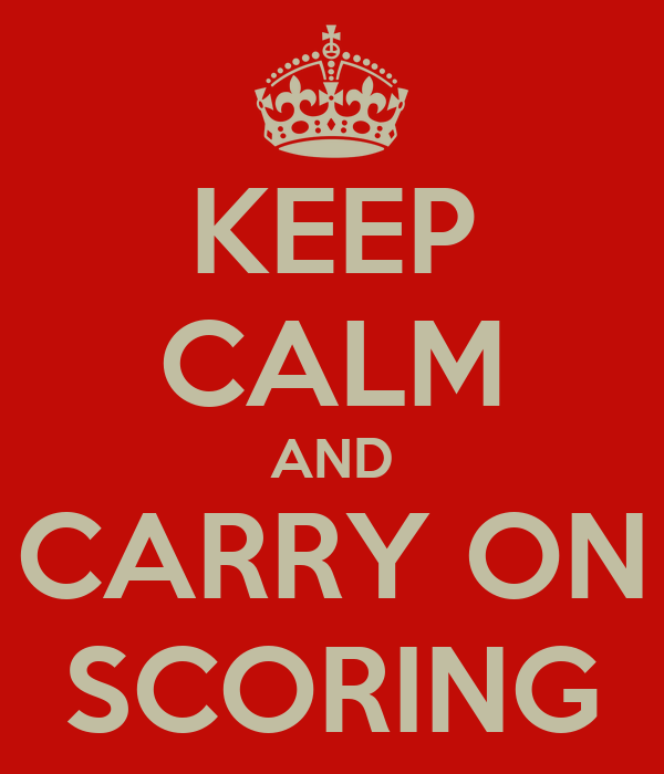 KEEP CALM AND CARRY ON SCORING