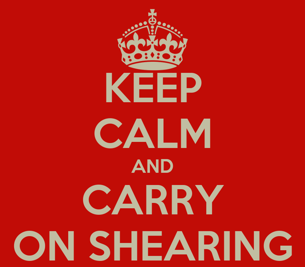 KEEP CALM AND CARRY ON SHEARING