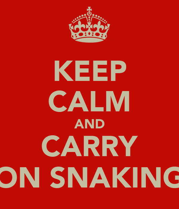 KEEP CALM AND CARRY ON SNAKING