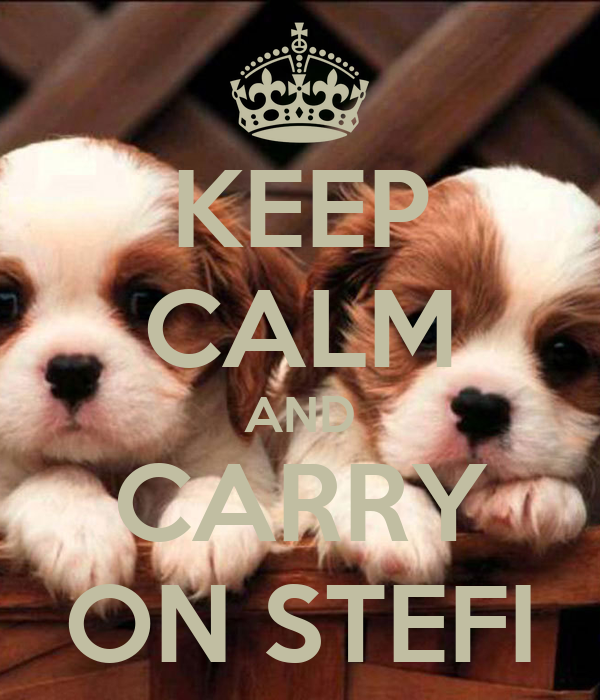 KEEP CALM AND CARRY ON STEFI
