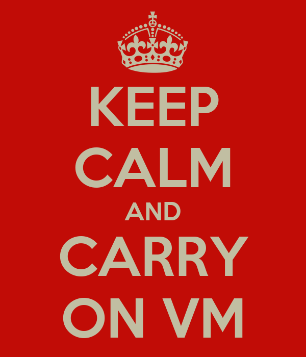 KEEP CALM AND CARRY ON VM