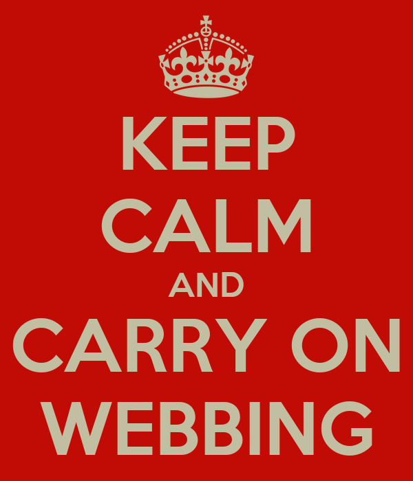 KEEP CALM AND CARRY ON WEBBING