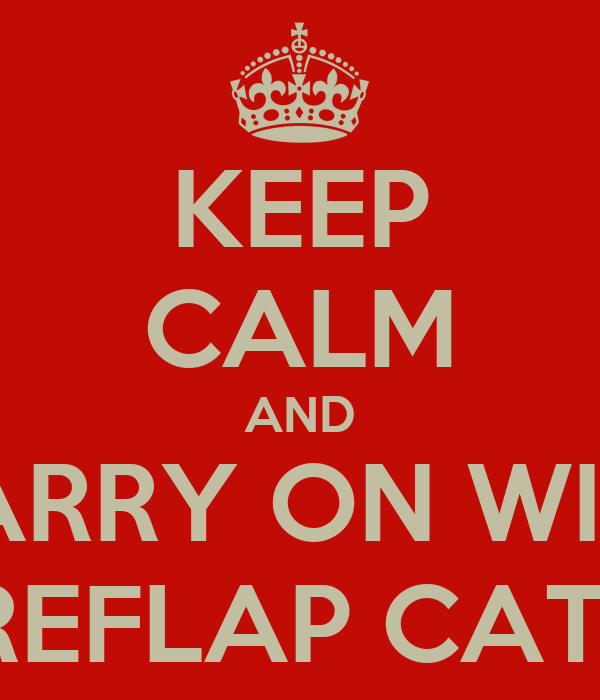 KEEP CALM AND CARRY ON WITH A SUREFLAP CAT FLAP