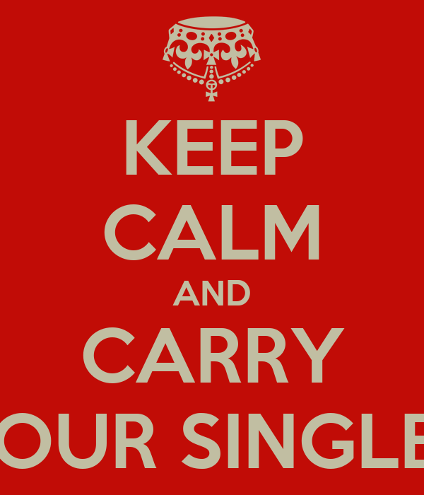 KEEP CALM AND CARRY ON YOUR SINGLENESS