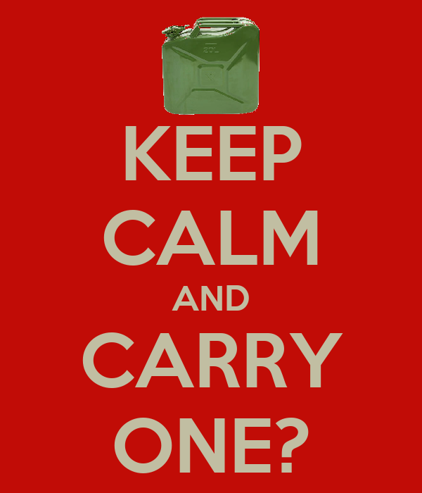 KEEP CALM AND CARRY ONE?