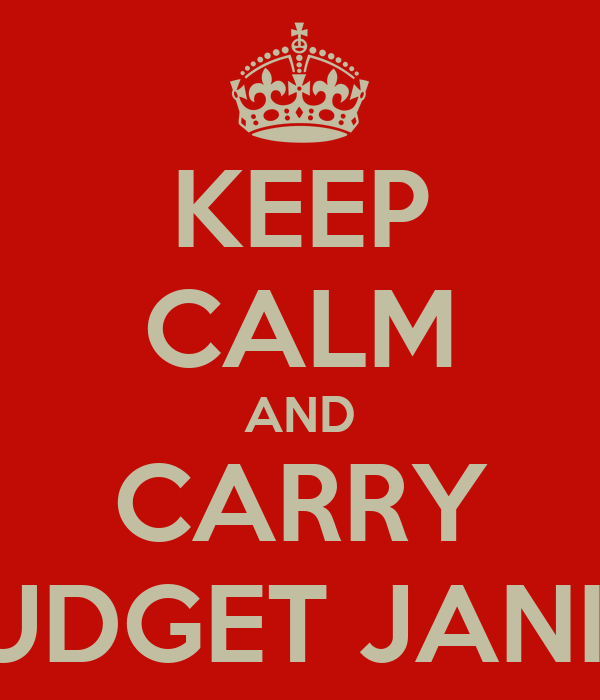 KEEP CALM AND CARRY ORDER FROM BUDGET JANITORIAL SUPPLY