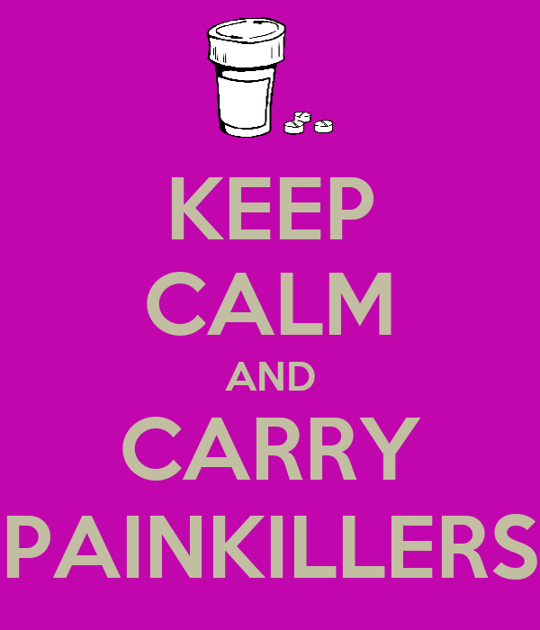 KEEP CALM AND CARRY PAINKILLERS