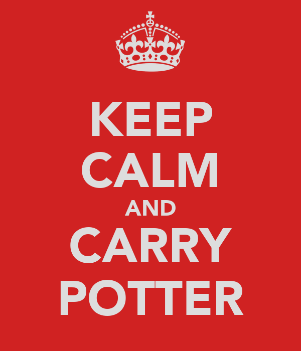 KEEP CALM AND CARRY POTTER