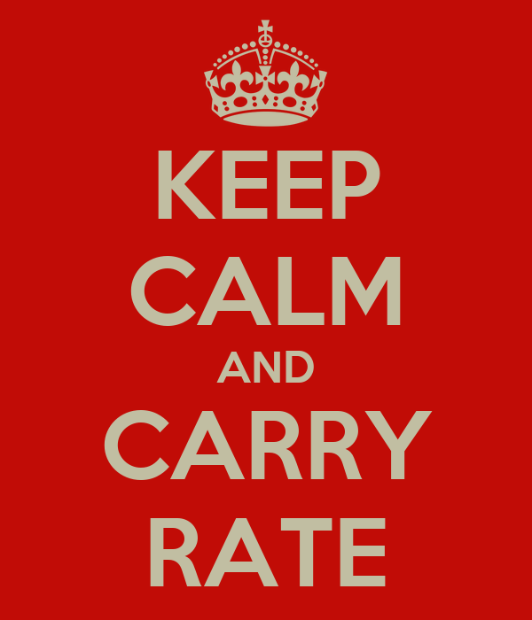 KEEP CALM AND CARRY RATE