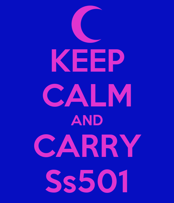 KEEP CALM AND CARRY Ss501
