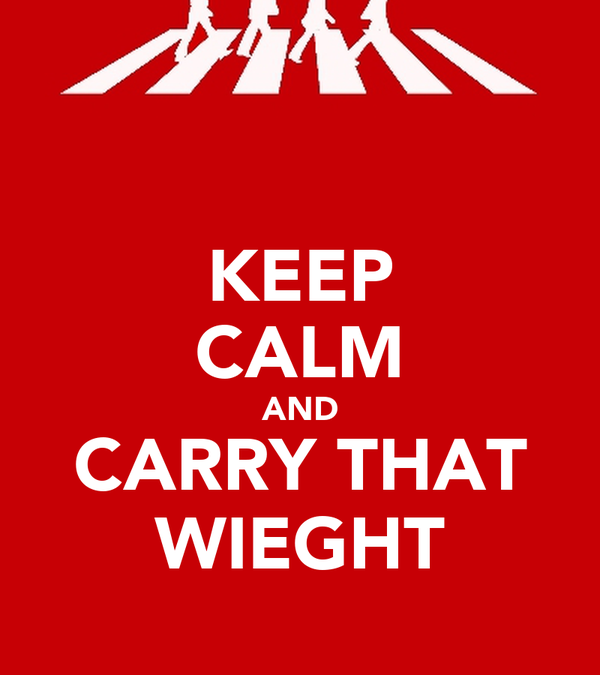 KEEP CALM AND CARRY THAT WIEGHT