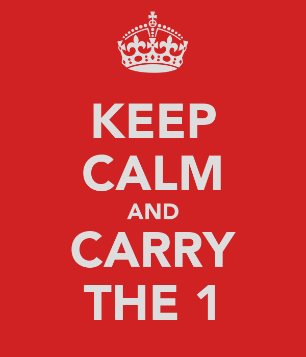 KEEP CALM AND CARRY THE 1