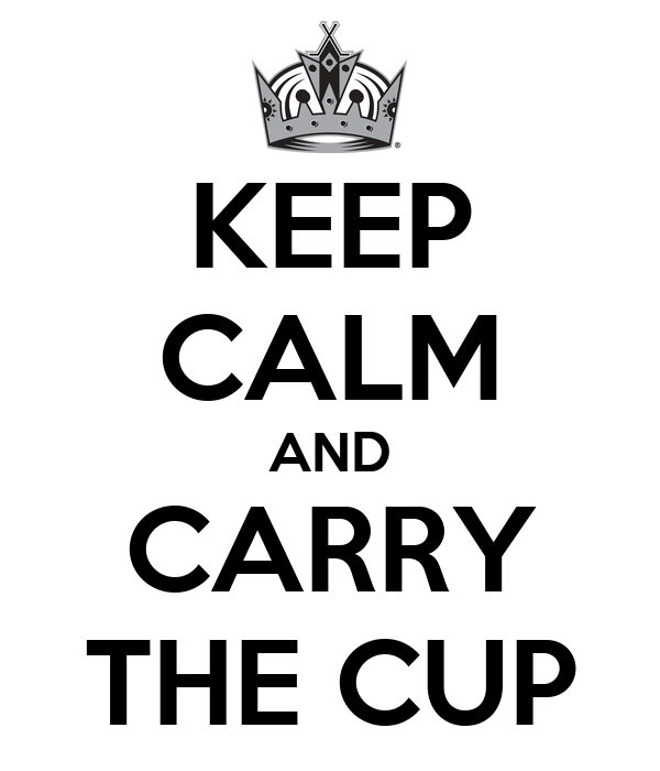KEEP CALM AND CARRY THE CUP