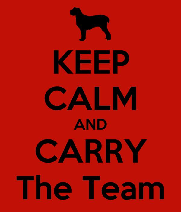 KEEP CALM AND CARRY The Team