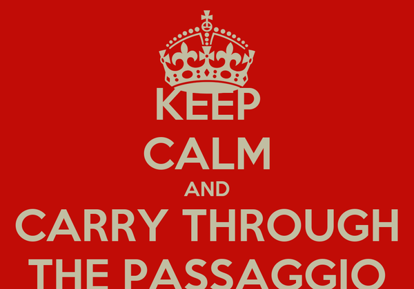 KEEP CALM AND CARRY THROUGH THE PASSAGGIO