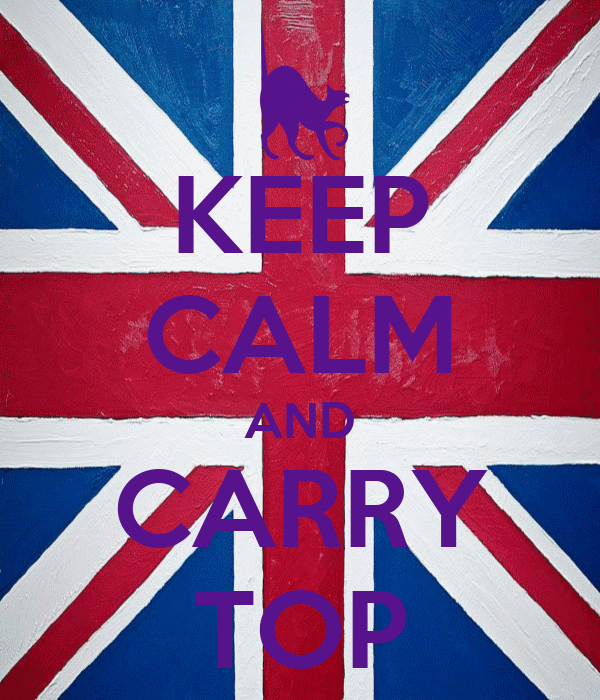 KEEP CALM AND CARRY TOP