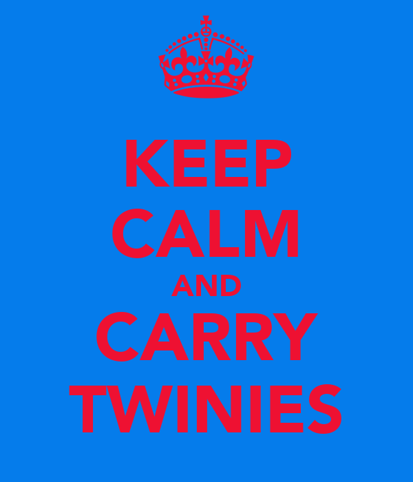KEEP CALM AND CARRY TWINIES