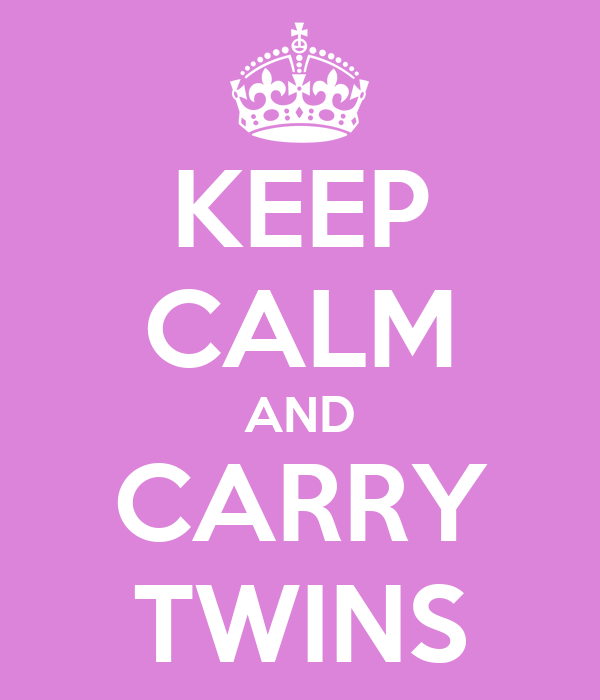 KEEP CALM AND CARRY TWINS