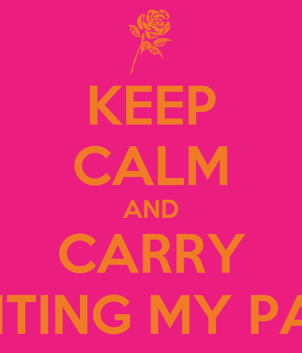 KEEP CALM AND CARRY VISITING MY PAGE