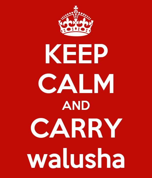KEEP CALM AND CARRY walusha