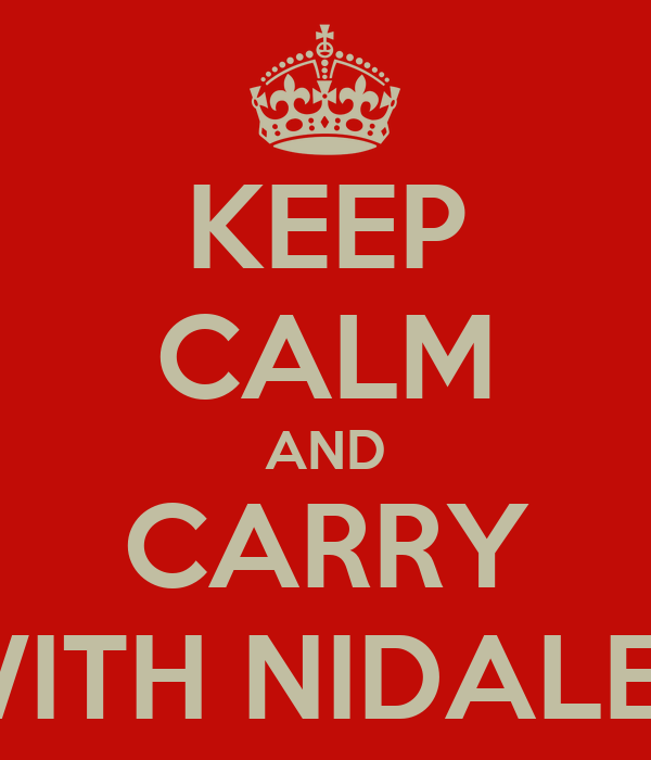 KEEP CALM AND CARRY WITH NIDALEE
