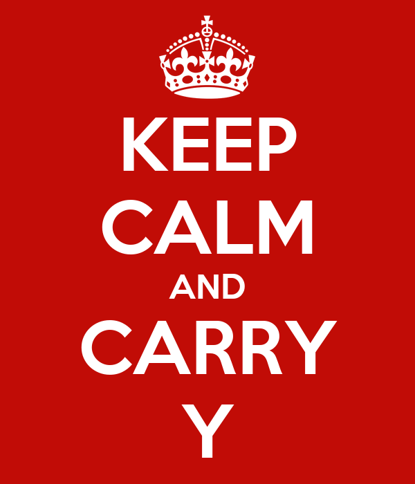 KEEP CALM AND CARRY Y