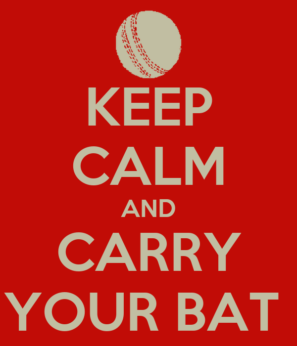 KEEP CALM AND CARRY YOUR BAT
