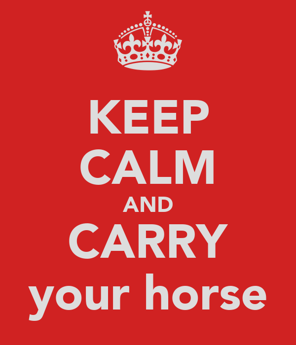 KEEP CALM AND CARRY your horse