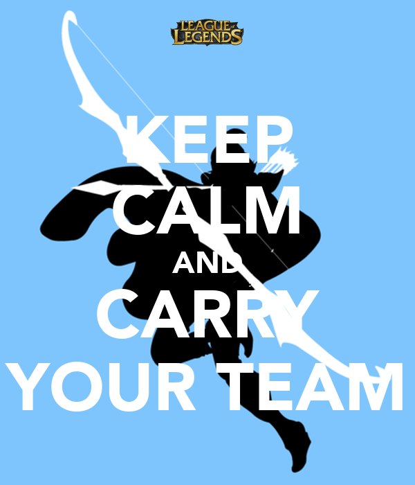 KEEP CALM AND CARRY YOUR TEAM