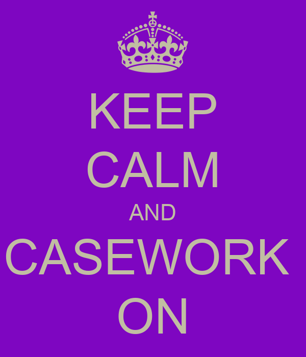 KEEP CALM AND CASEWORK  ON