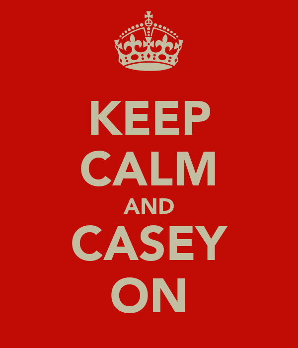 KEEP CALM AND CASEY ON