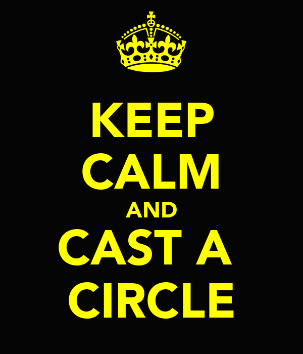 KEEP CALM AND CAST A  CIRCLE