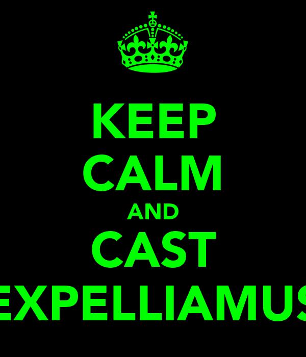 KEEP CALM AND CAST EXPELLIAMUS