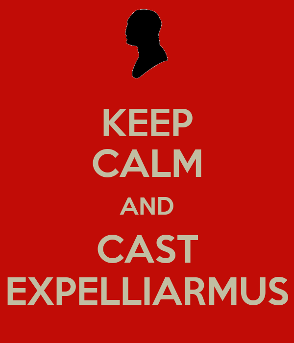 KEEP CALM AND CAST EXPELLIARMUS
