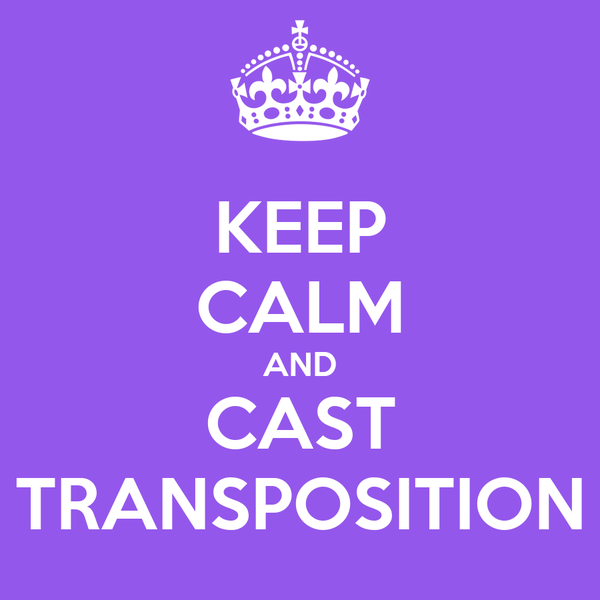 KEEP CALM AND CAST TRANSPOSITION