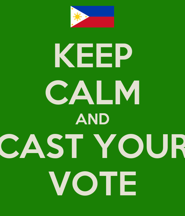 KEEP CALM AND CAST YOUR VOTE