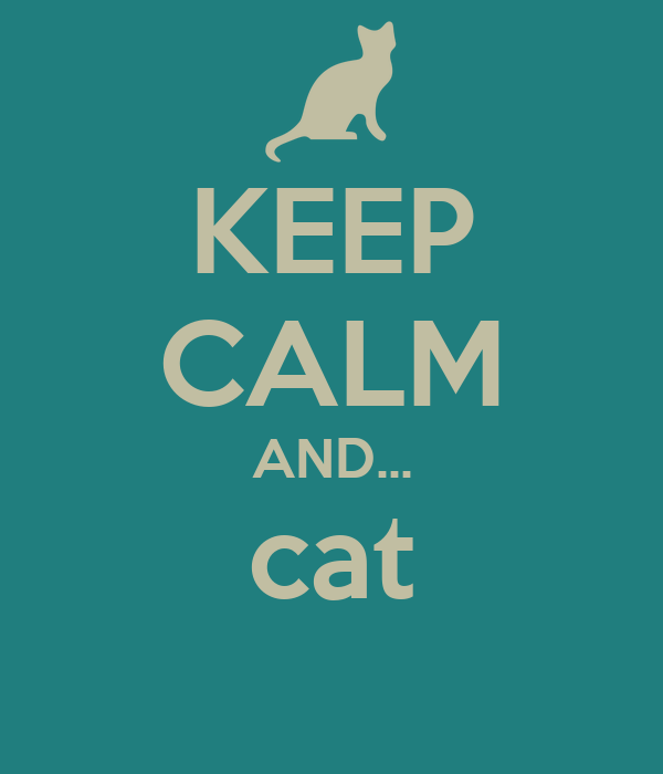 KEEP CALM AND... cat