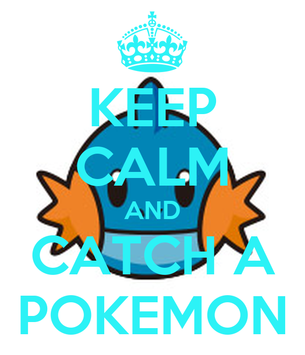 KEEP CALM AND CATCH A POKEMON