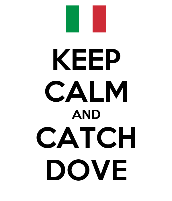 KEEP CALM AND CATCH DOVE
